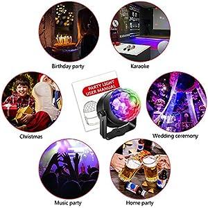 61VNC2x4RFL. SS300  - Neue-Version-Led-Discokugel-Alviller-Discolicht-Disco-Lichteffekte-Party-Licht-Partylicht-Diskokugel-Beleuchtung-Disco-Light-with-7-Farbe-fr-Kinder-Geburtstag-Karaoke-KTV-Club-Weihnach