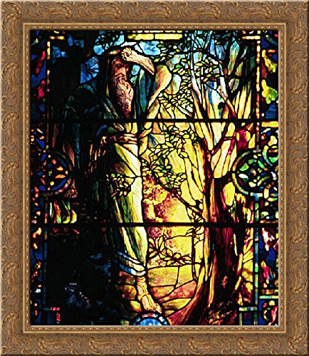 Moses and the Burning Bush 20x22 Gold Ornate Wood Framed Canvas Art by Tiffany, Louis Comfort]()