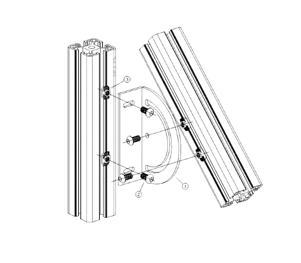 Steering Corner Bracket for Aluminum Extrusion 4040 Series, 4040 Aluminum Profile Cross Joint Connecting Plate with Free Angle