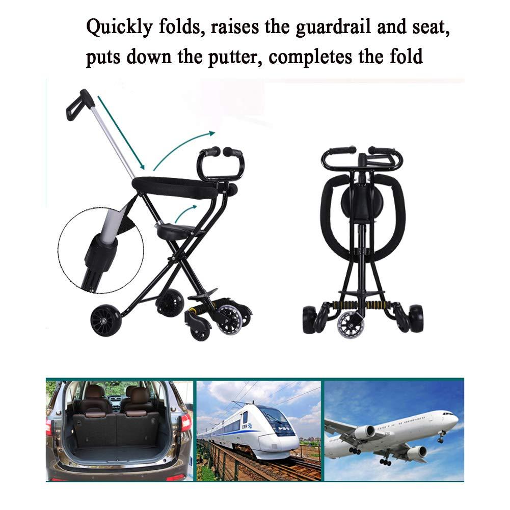 Bicicletas para niños Guo Shop- Trolley Ligero de los niños Plegables del Cochecito de bebé 5-Offroad de la Rueda: Amazon.es: Jardín