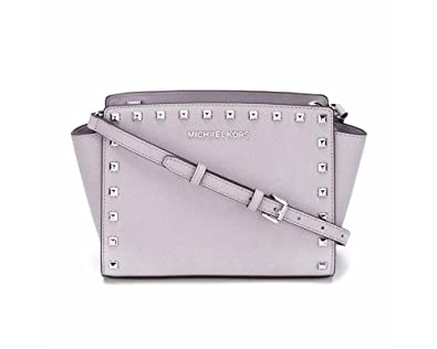 8df24133bbe8 Amazon.com  Michael Kors Selma Studded Mini Messenger
