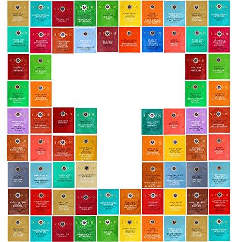 Tea Bags Sampler Assortment, 50 Flavors Of Stash Teas, In Luxurious Gift Box. -