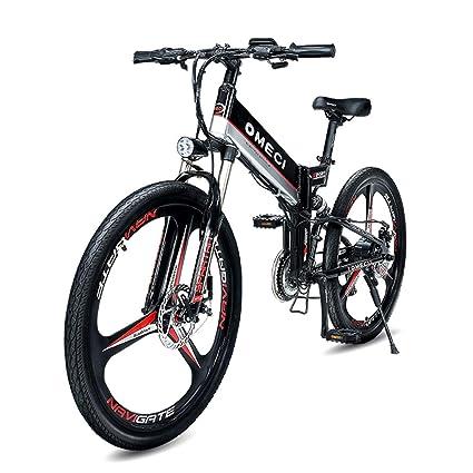 MERRYHE Bicicleta eléctrica Carretera eléctrica Plegable Bicicleta montaña Rueda 26 Pulgadas Bicicleta Plegable eléctrica Adultos 48