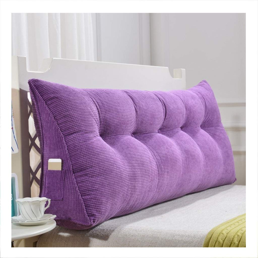 Cushion Waist Headboard Cushion Triangle Bed Pillow Soft Case Sofa Backrest Pad Tatami Bed Backrest Plush (Color : D, Size : 1202050cm(4 Buckle)) by K&F-Cushion