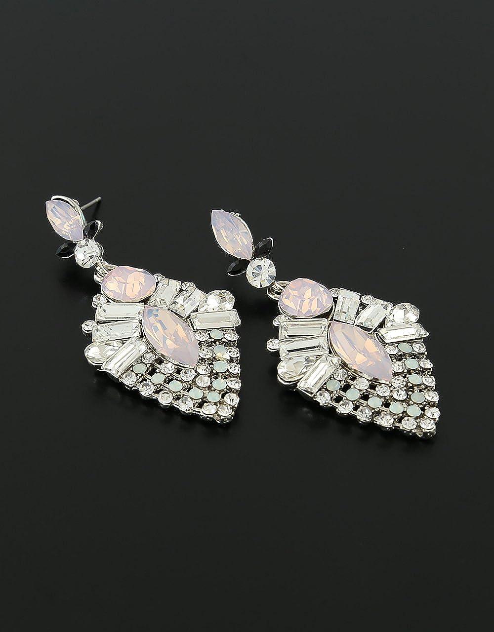 Anuradha Art Rainbow Shine Colour Studded Shimmering Stone Fancy Party Wear Designer Earrings For Women//Girls
