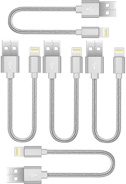 White//Grey Multiple USB Charger Station /& Cell Phone Boost Chargers 6Pack 8INCH Nylon Braided Fast Charging USB Power Charge /& Sync Cable Cord for Smartphones Tablets /& Other Gadgets