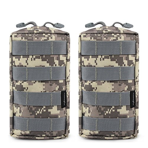FUNANASUN 2 Pack Molle Pouches - Tactical Compact Water-Resistant EDC Utility Pouch Bags from FUNANASUN