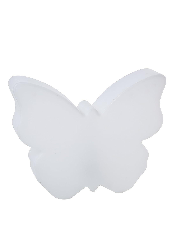 8 seasons design| Leuchtender Deko Schmetterling Shining Butterfly (E27, 40cm groß, innen & außen, UV- & wetterfest, Garten, Balkon, Terrasse, Haus) weiß [Energieklasse A] 40cm groß innen & außen Haus) weiß 32460