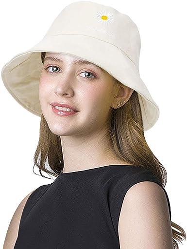 DOCILA Womens Daisy Bucket Hat Versatile Two-Sided Broad Brim Floppy Sun Cap  Packable Summer Fisherman Hats (Beige) at Amazon Women's Clothing store