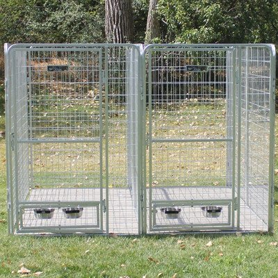 UPC 609722456845, Galvanized Steel Multiple Dog Kennel for 2 Dogs