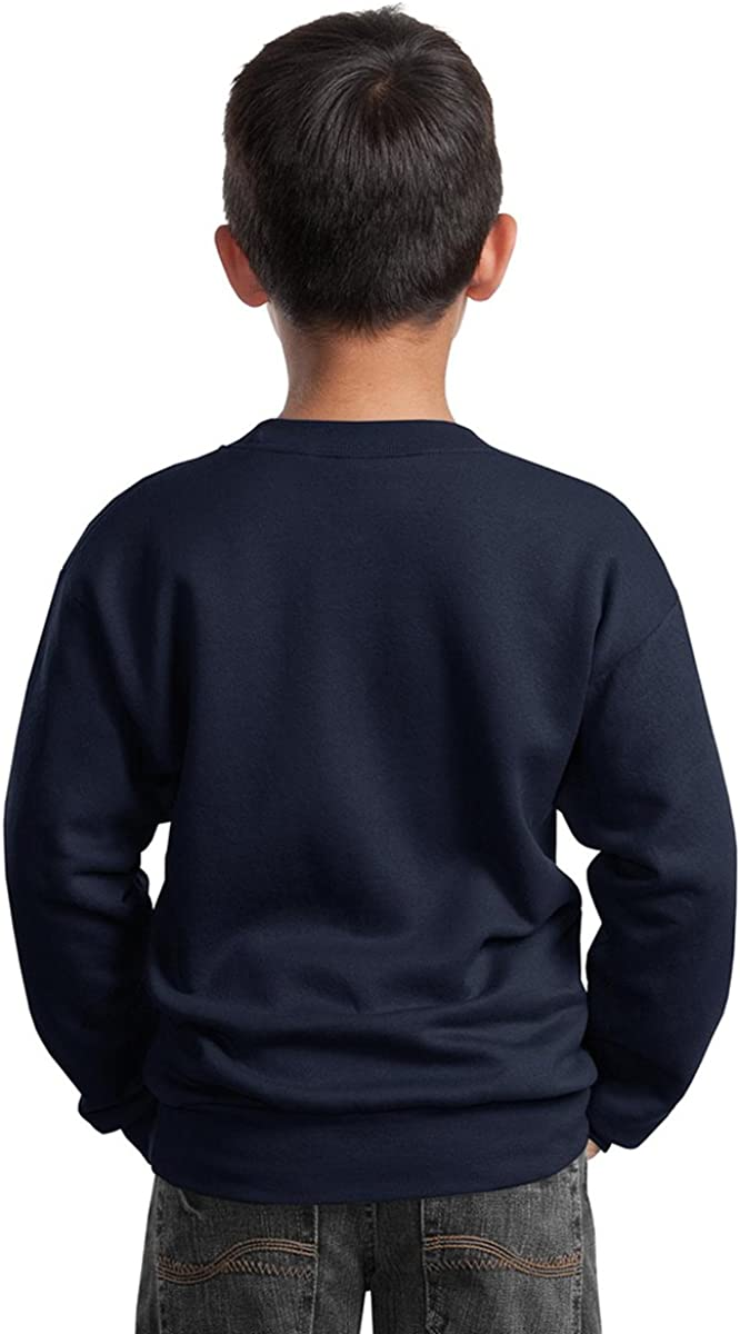Port /& Company Youth Perfect Crewneck Waistband Sweatshirt/_Sangria/_Large