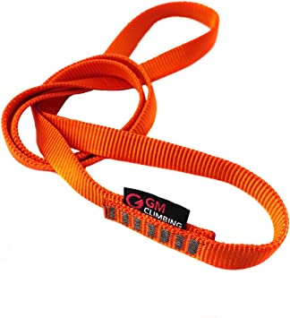 38in GM CLIMBING 23kN Nylon Safe Chain CE UIAA Certified 16mm Double Wrapped Sling for Personal Anchor Tether System Aid Climbing Hammock Suspension 97cm