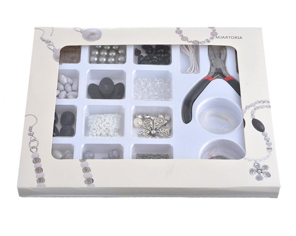MJARTORIA Perlen Set Schmuck machen Kit für Erwachsene, Schmuck ...