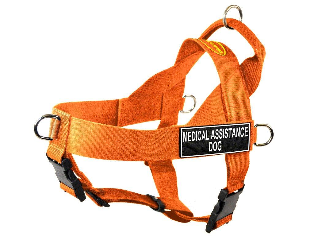 orange Medium orange Medium Dean & Tyler DT Universal No Pull Dog Harness with Medical Assistance Dog Patches, orange, Medium