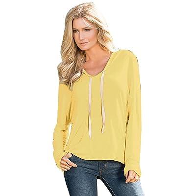 Binmer(TM) Women Long Sleeve Shirt Casual Hooded Blouse Loose Coat Tops T Shirt