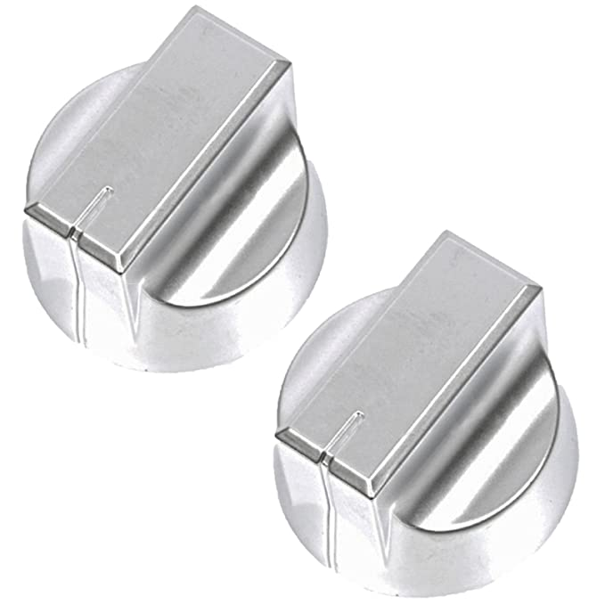 SPARES2GO Temperature Control Knob for Stoves New World Oven Cooker Black//Silver, Pack of 2