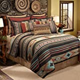Veratex Santa Fe Collection 100% Polyester Bedroom Comforter Set, Full Size, Southwestern