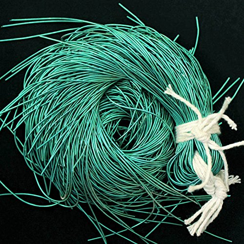 French Wire for Beading(Dabka), Green Color, 1MM, 45.72 Mtr(100 Gram) (Bullion Wire French)