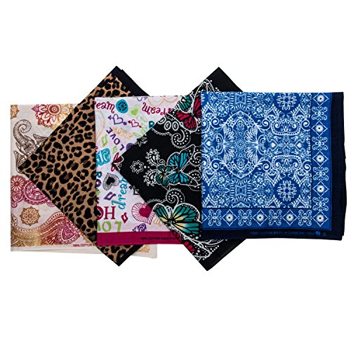 (Elephant Brand Bandanas 100% Cotton Since 1898-5 Pack (Novelty)