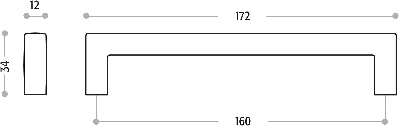 SCH/ÜCO ALU COMPETENCE Poign/ée de Meubles Sabine Entraxe 160 mm Poign/ée /Étrier Chrome poli Forme Ondul/ée Design rejoint la Fonctionnalit/é
