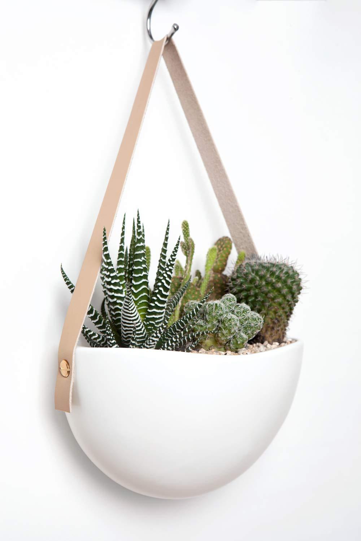 Amazon.com: Mkono - Maceta de cerámica para colgar en la ...
