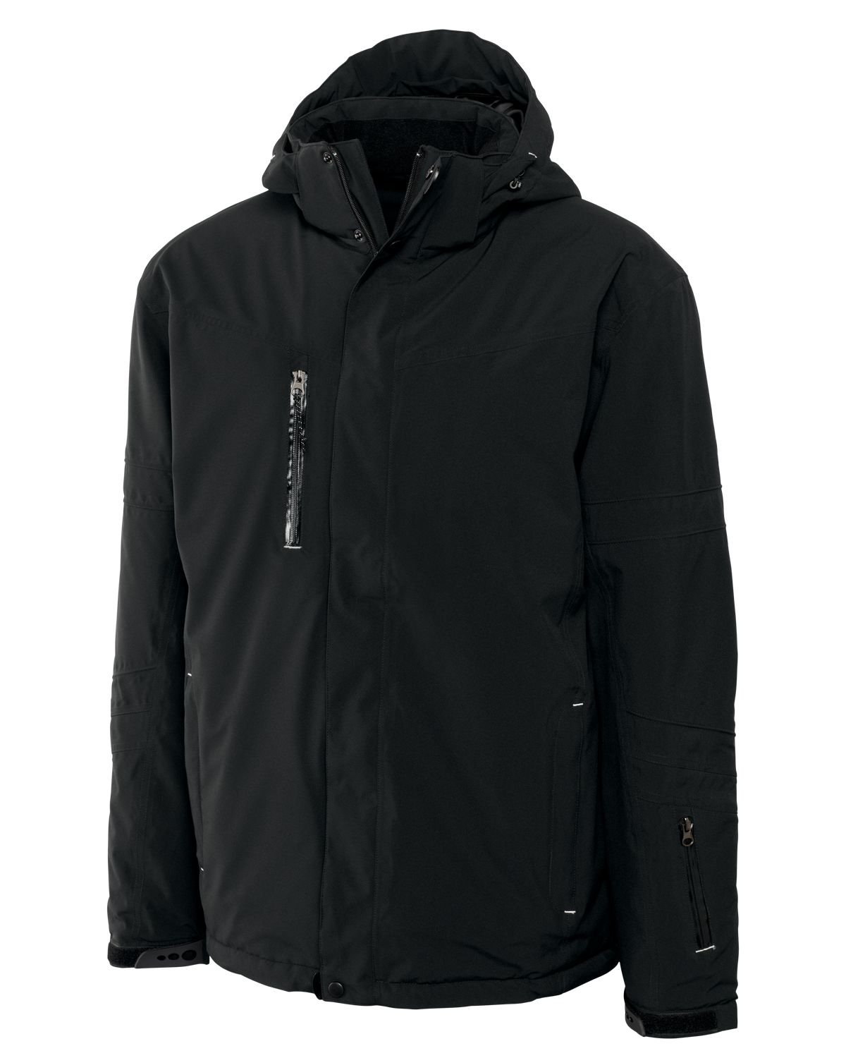 Cutter & Buck Men's Big-Tall Weathertec Sanders Jacket, Black, 5X/Big