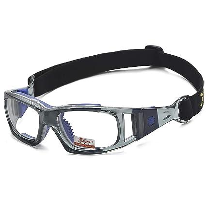Pellor Gafas de Deporte, Adultos Gafas Protectoras Gafas de Seguridad Deportiva Adjustable para los Amantes