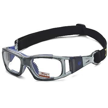 4fb7143e9f Pellor Gafas de Deporte, Adultos Gafas Protectoras Gafas de Seguridad  Deportiva Adjustable para los Amantes de Fútbol Baloncesto Tenis:  Amazon.es: Deportes ...