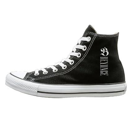 suancai Hombres & Mujeres Beyonce High Top Zapatillas zapatos de Lienzo diseño deporte zapatos Classic negro