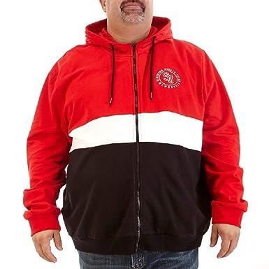 b86e1f1f272 Amazon.com  Sean John Men s Big and Tall Color Block Fleece Hoodie  Sweatshirt Jacket  Clothing
