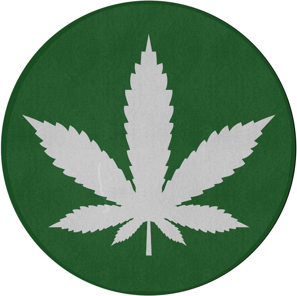 Alfombras para el dormitorio Icono de hoja de marihuana Icono de cannabis Vector Alfombra de dormitorio Alfombrilla redonda de 2 pies Microfibra antideslizante Lavable a máquina Alfombra de dormitori