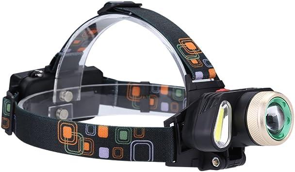 LED T6 + COB Linterna Frontal para Cabeza, Linterna Frontal ...