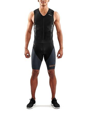 Skins DNAmic Triathlon - Hombre - with Front Zip Gris/Negro ...