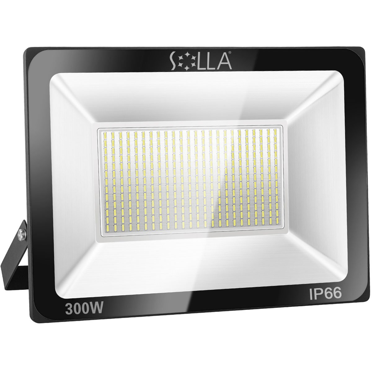SOLLA 300W LED Flood Light, IP66 Waterproof, 24000lm, 1600W Equivalent, Super Bright Outdoor Security Lights, 6000K Daylight White, Floodlight Landscape Wall Lights