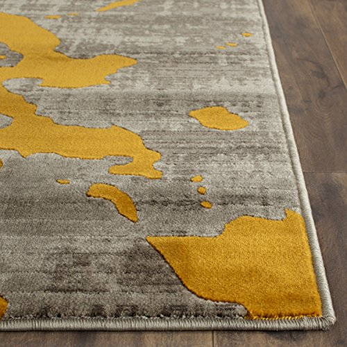 Safavieh Porcello Collection PRL7735C Light Grey and Yellow Area Rug 3 x 5