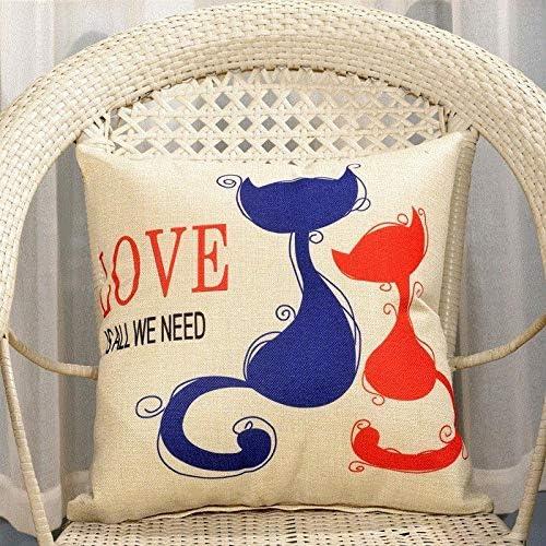 Korean version of the cartoon pillowcase car sofa cushion square pillowcase@Auspicious flower_40X40cm (with core)