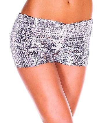 fcb544035b1d69 Kairuun Short à Paillettes pour Femmes Mini Short Elastique Shorts ...