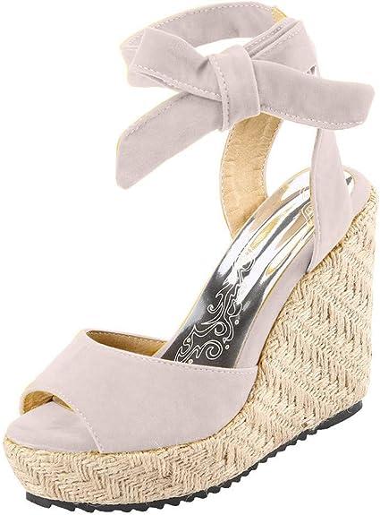 Sandals Wedge Heel Espadrilles Lace