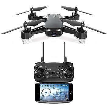 Drone Plegable con cámara HD 1080P, Tiempo de Vuelo Largo, WiFi ...
