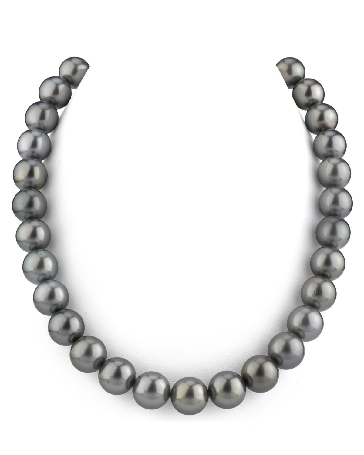 14K Gold 10-12mm Tahitian South Sea Cultured Pearl Necklace - AAA Quality, 18'' Princess Length