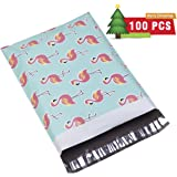#4 10x13 Flamingo Designer Poly Mailers Shipping Envelopes Boutique Custom Bags 2.35MIL by UCGOU Pack of 100