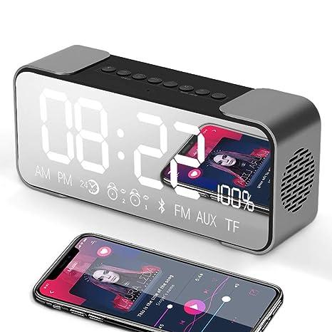Mad sorrow Reloj Digital inalámbrico Bluetooth Altavoz ...