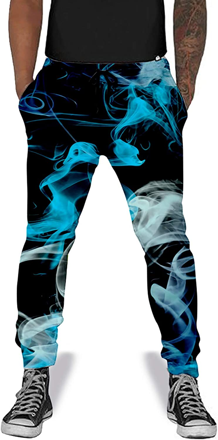 UNIFACO Unisex Jogger Pants 3D Digital Print Sports Casual Graphic Trousers Sweatpants with Drawstring