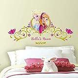 "RoomMates - RMK2748GM Disney Frozen Springtime Custom Headboard Peel And Stick Giant Wall Decals,Multicolor,40.5 "" x 20…"