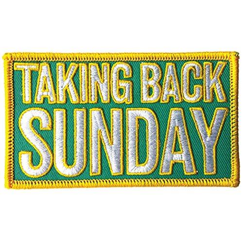 Taking Back Sunday Men's Logo Embroidered Patch - Taking Sunday Merchandise Back