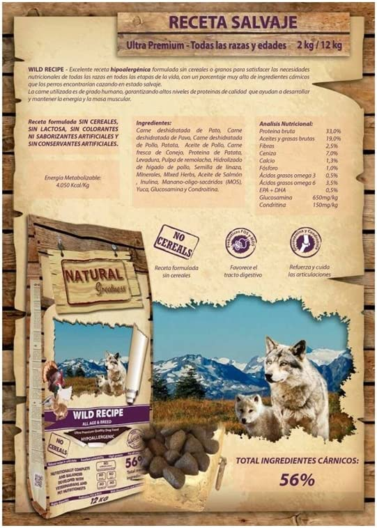 Natural Greatness Wild Recipe Alimento Seco Completo para Perros ...