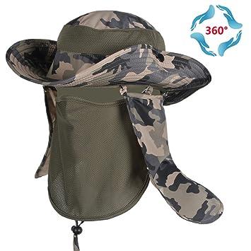 360 ° Sonnenschutz Hut Baseball Cap Style mit abnehmbarer Hals und