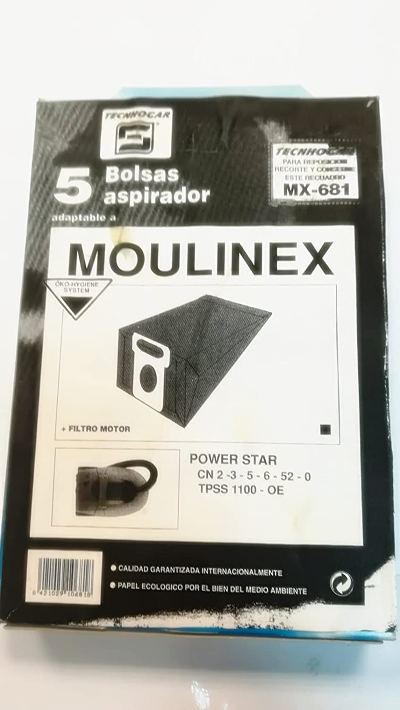 Taurus Bolsas Aspirador COMPATIBLES MOULINEX Power Star: Amazon.es ...