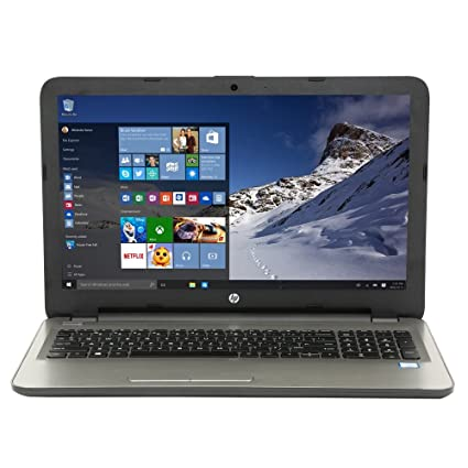 """HP 15-ay130nr 15.6"""" Laptop Computer - Textured Linear Grooves with Horizontal Brushing in"""
