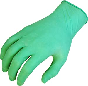 SHOWA 1005 Natural Rubber Glove, Rolled Cuff, Lightly Powdered, 5 mils Thick, 9.5